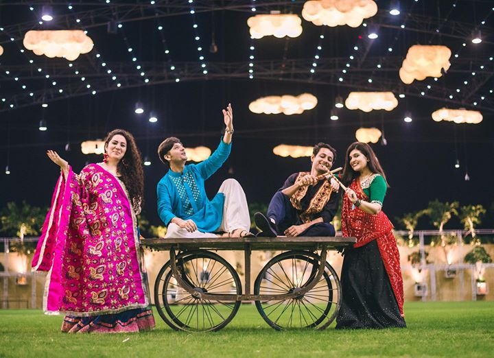 So are you ready ? Coz WE are :)  4 Pillars of Mirchi 98.3 Ahmedabad are all set to Rock & Dhol with You at the most beautiful Garba Venue Aman Akaash Party Plot.  Like we say