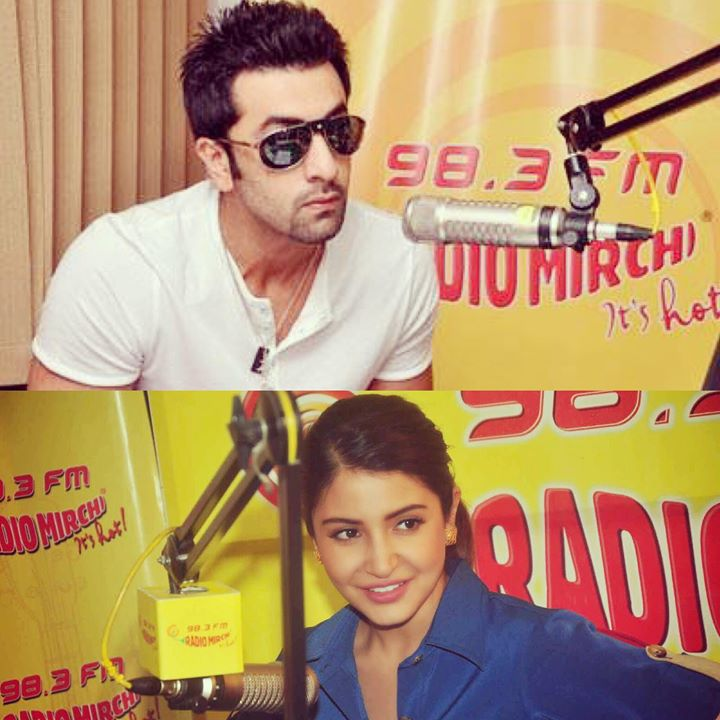 Aye Haye RJ Anushka & RJ Ranbir   All Day On Mirchi 98.3 today ! Let's see if they find RJ-ing Mushkil or not ;) #adhm #mirchidiwali  @karanjohar @anushkasharma @aedilhaimushkill