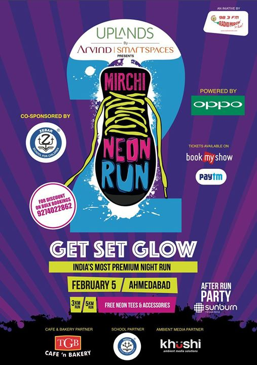 So Here we are ! Gearing Up for Another Neon Experience. Get your dear ones with The Mirchi Team to Mirchi Neon Run Season -2  Get Yourself registered on Book My Show