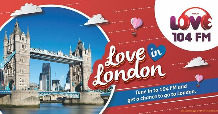 Amdavad!! Do you know this ?  You can take your special one to LONDON this Valentines!!  To know more Tune in to Mirchi Love 104 ❤