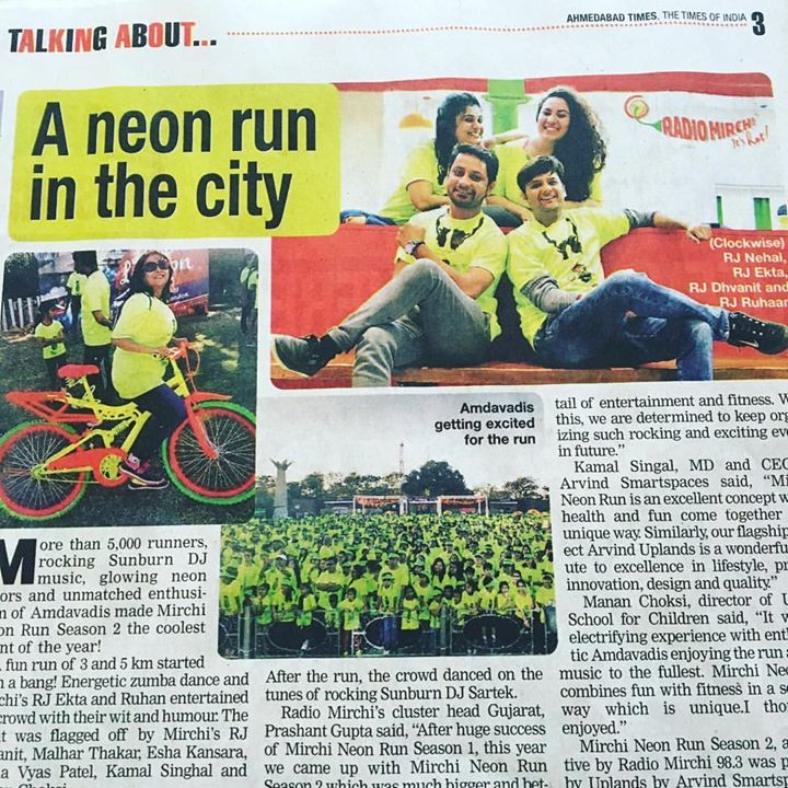 With the Gang !  #mirchineonrun #ahmedabadtimes