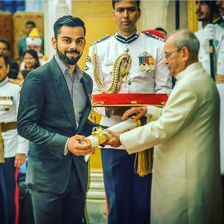 Congratulations to  @viratkohli for receiving Padma Shri