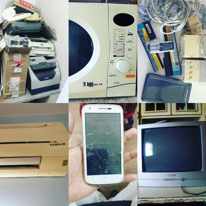 And More And More .... superrhappyyy !!  E-wastigation Happeniing Full on !  Send a Whastapp on 9327-104104 your Name & Address and AMC officials will come to collect your Electronic Waste - EWaste ! #ewasterecycling #ewaste