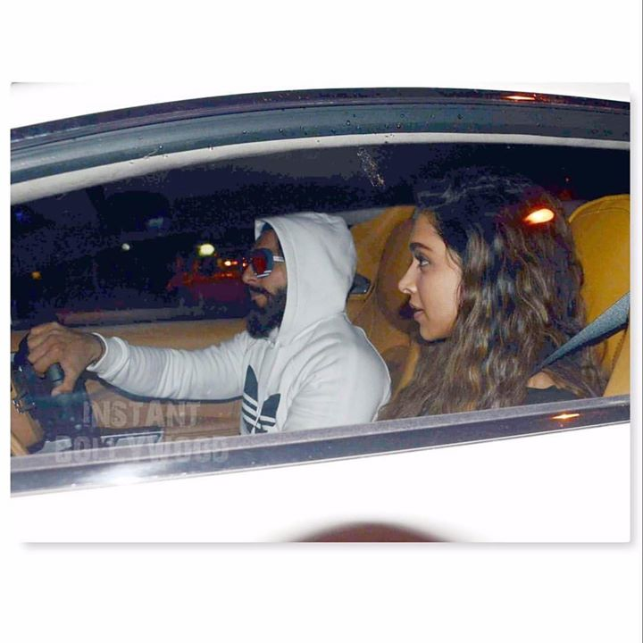 How Lovely ! Watta Man !   ・・・ You have to make sure that the first girl who sits in your new ride is your BAE. Ranveer Singh made sure that last night when he took Deepika Padukone out for a ride in his new Aston Martin.  #loveupdate