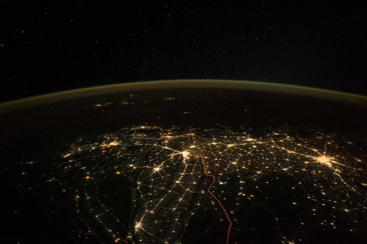Here's the REAL one from Space.  Officially shared by scientist Paolo Nespoli - from International Space Station.  This is how India Looked on Diwali Night.  #diwali #space #india    Thank you International Space Station