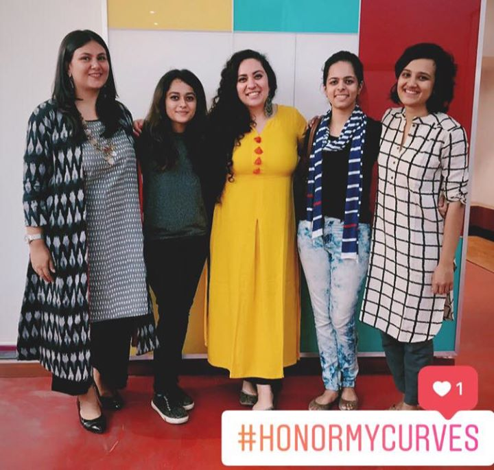 "Fashion Friday On Mirchi Love today Morning, when these beauties from Cept Ahmedabad talk about ""HonourMyCurves""  6 students from Cept Ahmedabad are willing to listen to your stories, stories when you were called fat, oversize and many such things based on your appearance.  How the Amazing @rebeccasudan is helping them by conducting this course at Cept and how Together they will make you feel good about yourself, Everything on my show today.  Let us together make your morning Wonderful and Filled with Love 💕"
