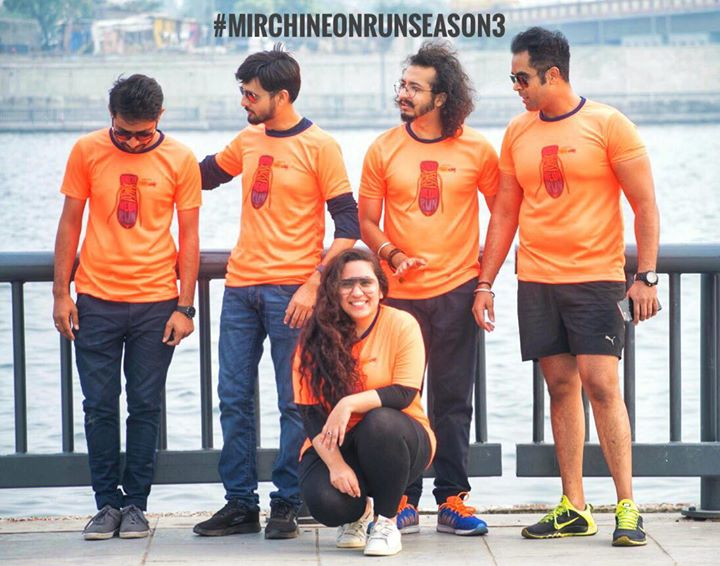 "Here We Are ! Gearing Up ""Swag Se Karenge Aapka Swaagat""  At  Mirchi Neon Run Season 3  Click on the link to get yourself registered  https://in.bookmyshow.com/sports/mirchi-neon-run-ahmedabad  #rjdhvanit #rjkunal #rjvashishth #rjruhaan"