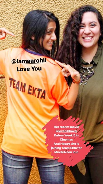 Aarohi in my team ! #mirchineonrun  Mirchi Neon Run ! Season 3 on 7th Jan 2018  Your Fun Run and after Run EDM Party !  Join the Mirchi Gang - Go To Book My Show Ahmedabad and Get registered.