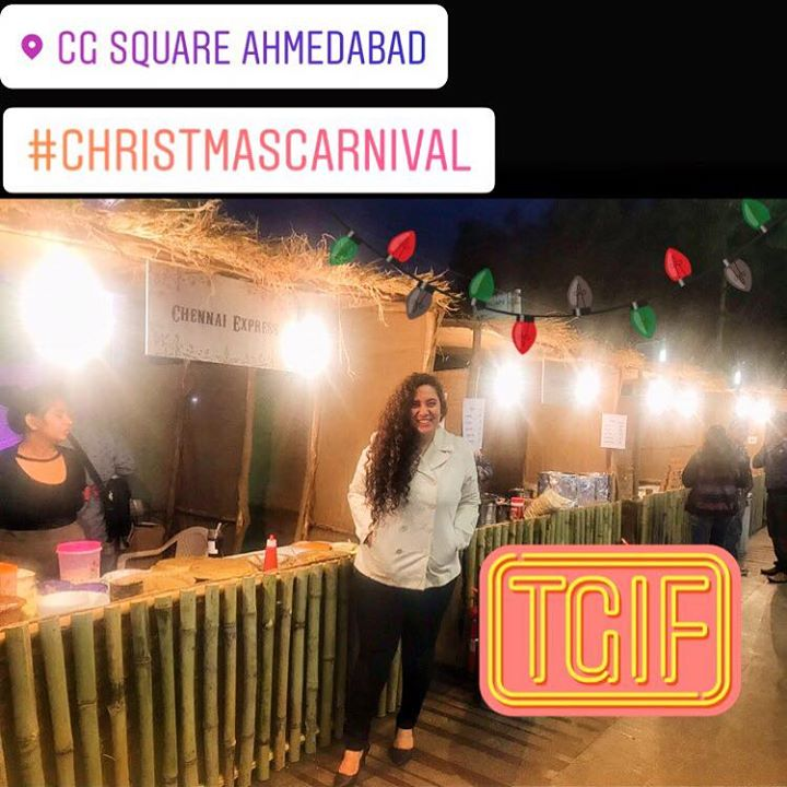 Yay ! Good Food Good Vibes !   Food Walk At CG Square mall which has organised a Christmas Carnival for 10 days ! #kullad #chai #chinese #italian #mexican #coffee #northindian #food #yum
