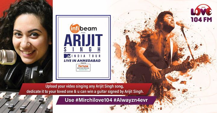 Surprise !  Win Arijit Ka Sign kiya Super Special Guitar!   Use #mirchilove104 and #alwaysandforever  and upload your video singing any Arijit Singh song.  You can also DM/inbox me your video.  Contest open till tomorrow afternoon.   #arijitsingh #arijit #music #guitar #win #ahmedabad #musiclover #surat #rajkot #baroda #gujarat #love