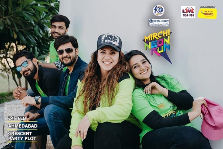 Tag your Gang ! Who will join Our Gang this Sunday ! Glow with Us ! Music 🎧 Fun 🤩🔥  Mirchi Neon Run 🏃🏻‍♀️  #team #mirchi #ahmedabad #love #run #marathon #health #fitness   Caught Well by @chintan1993