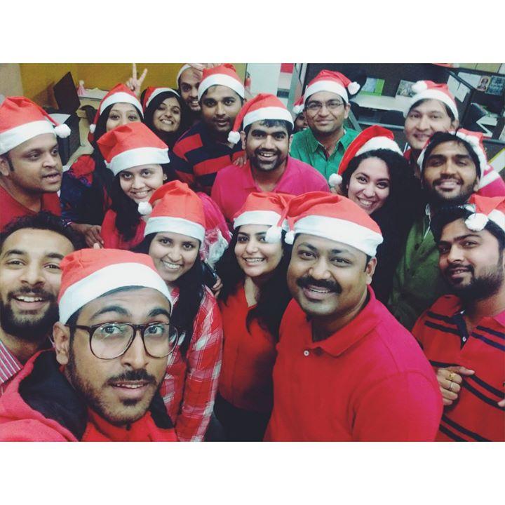 Celebrations at Mirchi Ahmedabad studios #hohoho #merrychristmas