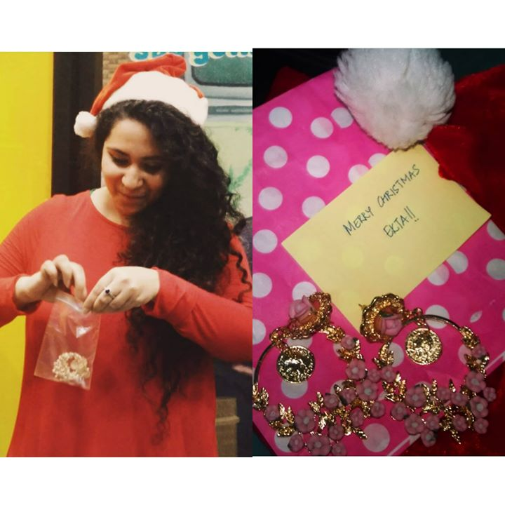 Super Thanks to My #secretsanta Devanshi( Our Mirchi member) for these super sexy Jhumkaass !! Thank you !