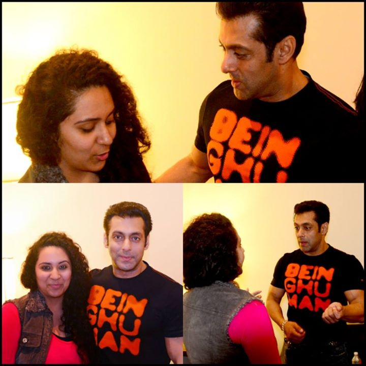 Yes ! I m repeating this ! But that was one HUGE moment meeting him. #happybirthdaysalmankhan