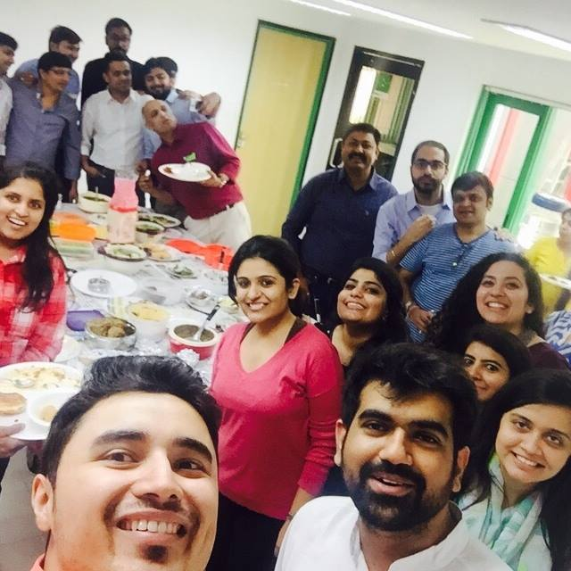 Hahaha we eat eat and eat ! Mirchi Dabba Party ! My Mad Mirchi Family!!!