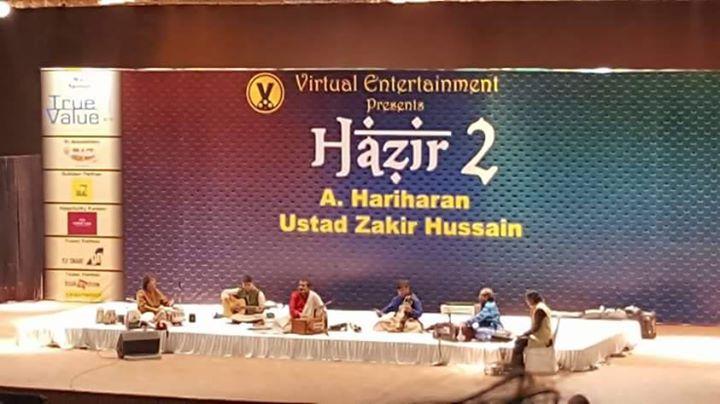 2 Legends on one stage in Ahmedabad. #hazir2 #Ahmedabad #Gujarat image by Kartik Pandya