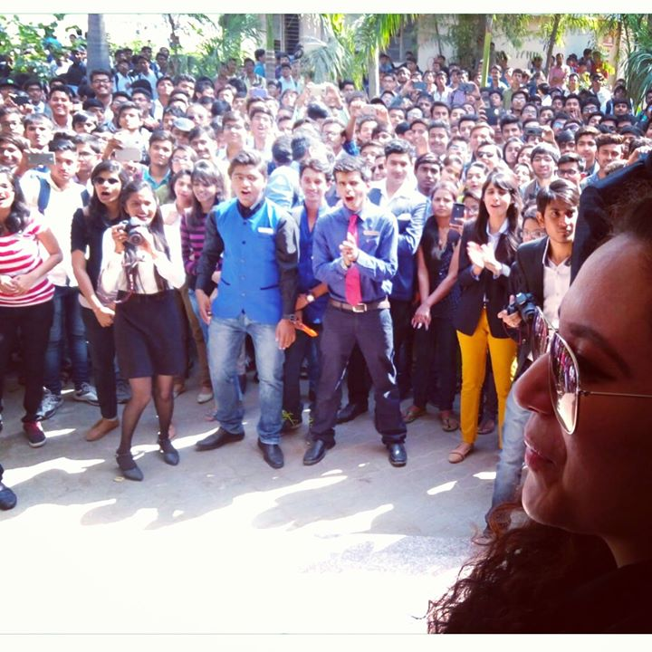 This morning at Sal Institute of Technology... To Judge Food Festival and Register for Mirchi Neon Run...