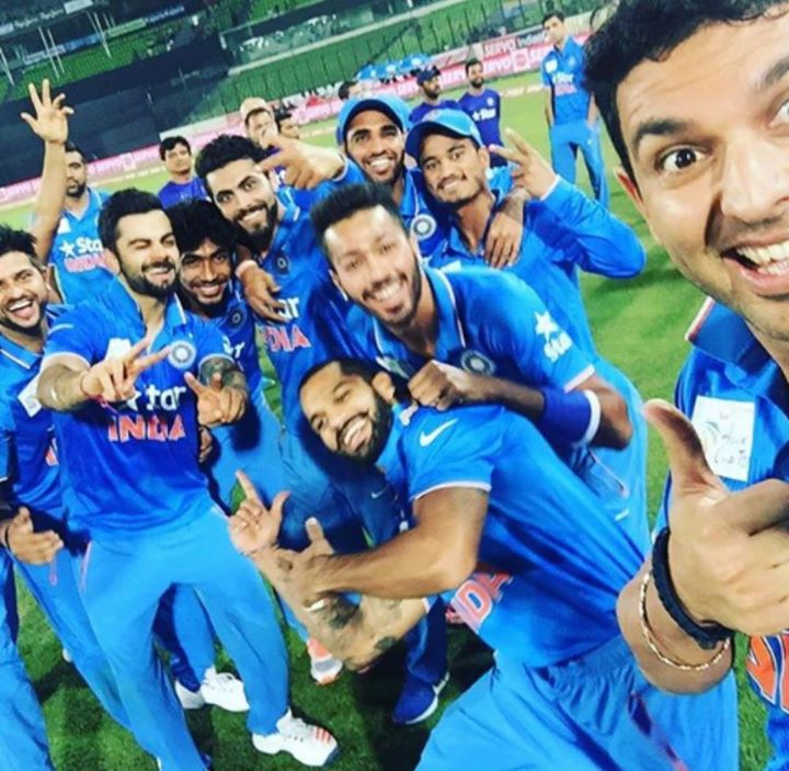 Look at them ! Wat maddening fun ... Well done boys #indvsban