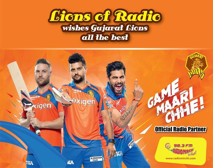 #lionsofradio official Radio Partners #lionsofgujarat #gamemariche #pehletheej ;)