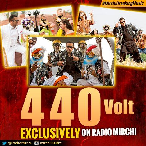 Yes Amdavad Gear Up for 440 volts Ka Jhattka !! India's Hottest Radio Station brings Bhaaijaan Ka naya Gaana for you !! Radio Mirchi 98.3fm the OFFICIAL radio partner of Sultan !!!