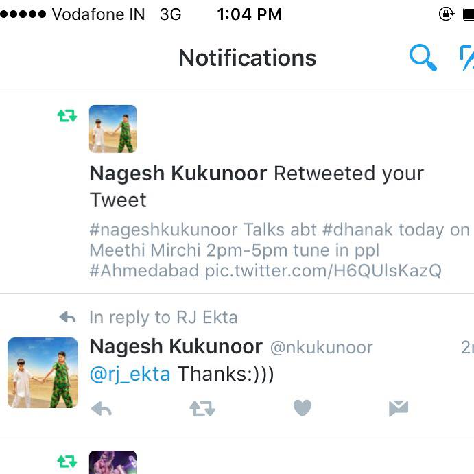 Lucky Day !! Nagesh Kukunoor retweets 🙏🏼🙏🏼 Hope Amdavad listens to his love for Gujarat today on my show 😘😘 Go watch #dhanak