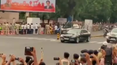 Road Show today in Amdavad  #shinzoabe   #akieabe #narendramodi