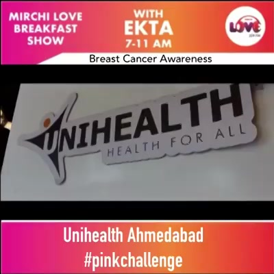 Monday's are generally Blue, But today I wanna make it Pink ! With the #pinkchallenge  A challenge for every Woman, through a small step towards Breast Health.   Something which will help early detection of Breast Cancer, which is on a rise in India.  Everything about iBreastExam at Unihealth Ahmedabad today on My Show. Unihealth #breastcancerawareness #breastcancerawarenessmonth #breastcancer #unihealth #health #breasthealth #woman #monday #pinkchallenge #pink #insta . . . 📸 @chiragpanchal__